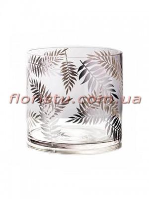Ваза цилиндр из стекла премиум класса Diamond Star 15 см