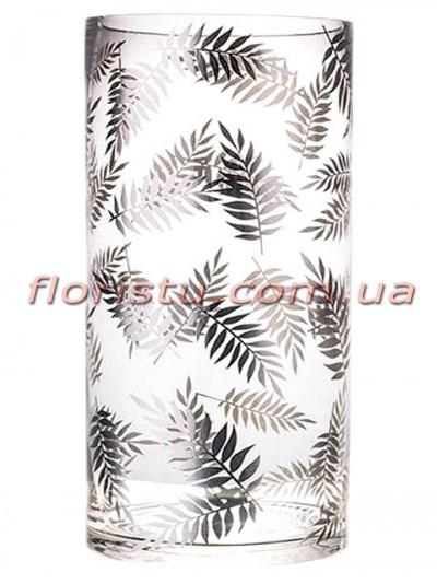 Ваза цилиндр из стекла премиум класса Diamond Star 35,5 см