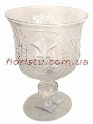 Кубок из стекла Винтаж 22 см