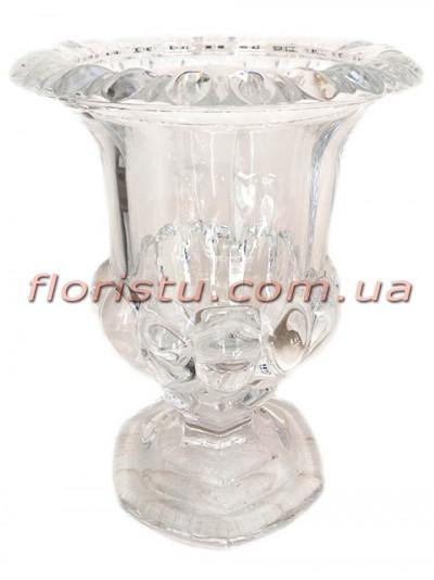 Ваза стеклянная Кубок 23 см