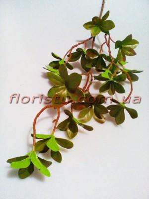 Ветка искусственная Бонсай бордово-оливковая 70 см
