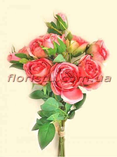 Букет роз гэлакси премиум класса Коралловый 46 см