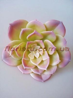 Эхеверия Каменная роза искусственная светлая лилово-зеленая 12 см