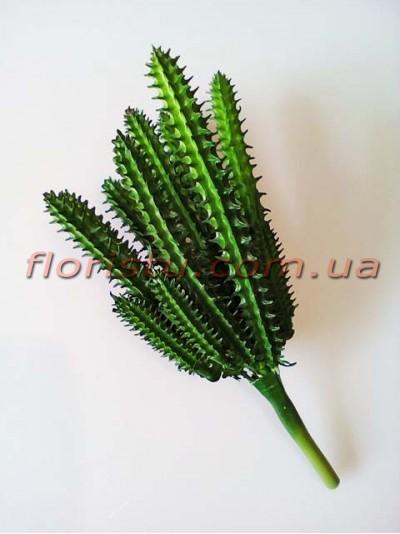 Кактус искусственный №2 зеленый 19 см