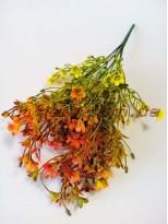 Незабудки пластик Желто-оранжевые 37 см