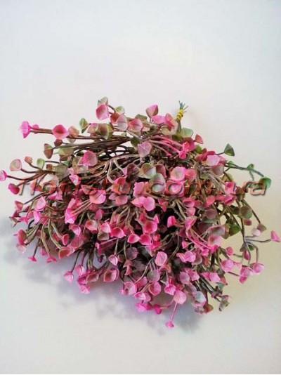 Добавка флористическая дымчато-розовая пучок 10 шт. 28 см