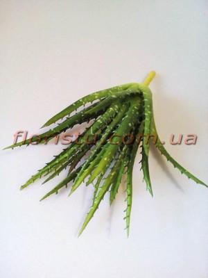 Алоэ искусственный кустик Зеленый 24 см