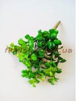 Крассула искусственная Зеленая 9 веток 22 см