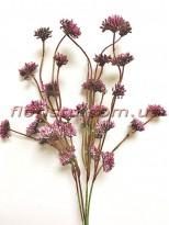 Ветка с соцветиями пластик Бордо 40 см гол. 2 см