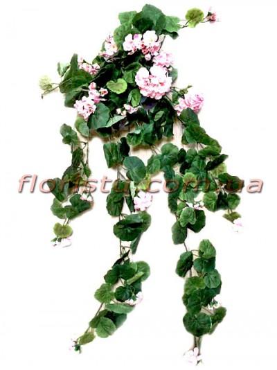 Герань ампельная искусственная Розовая 60 см