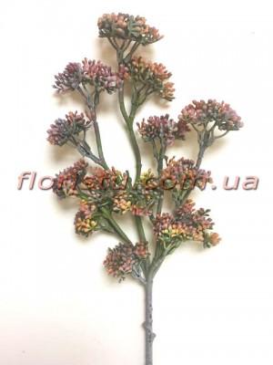 Ветка с мелкими ягодами Винтаж дымчато-бордовая 50 см