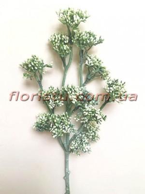 Ветка с мелкими ягодами Винтаж дымчато-зеленая 50 см