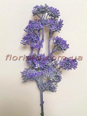 Ветка с мелкими ягодами Винтаж дымчато-фиолетовая 50 см