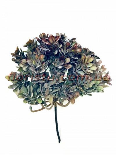 Искусственный кустик суккулента Бордово-зеленый 26*20 см