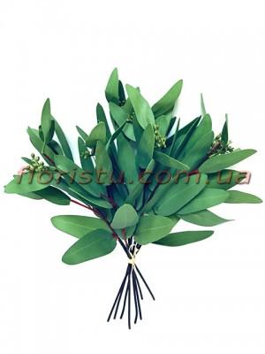 Эвкалипт глобулюс латексный Зеленый 35 см 8 веток