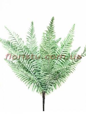 Куст папоротника премиум класса Дымчато-зеленый 21 ветка 60 см