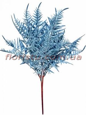 Папоротник искусственный премиум Синий 45 см