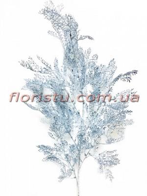 Искусственная декоративная ветка Синяя 100 см