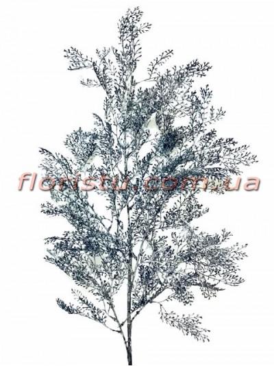 Искусственная декоративная ветка Темно-серая 100 см