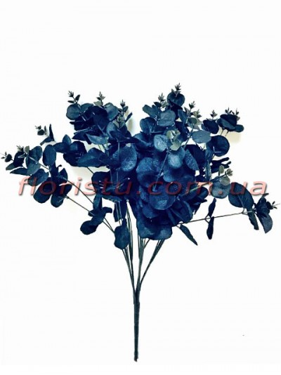 Эвкалипт искусственный Черный 20 веток 50 см
