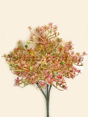 Добавка с рябыми цветочками бордо 30 см