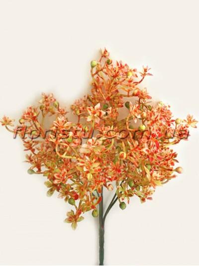 Добавка с рябыми цветочками оранж 30 см