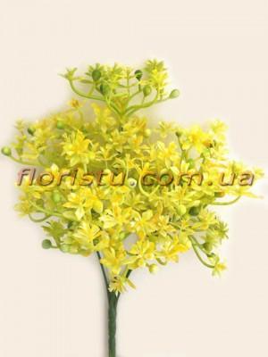 Добавка с рябыми цветочками желто-салатовая 30 см