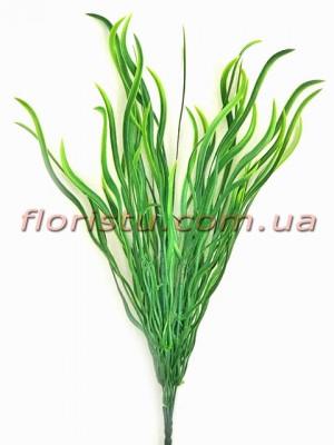 Трава осока волнистая зеленая 25 см