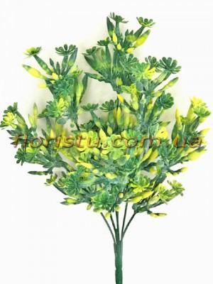 Букет зелени с цветочками Желто-зеленый 32 см