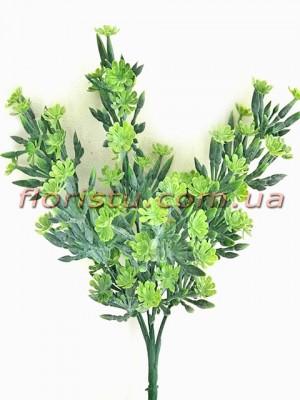 Букет зелени с цветочками Зеленый 32 см