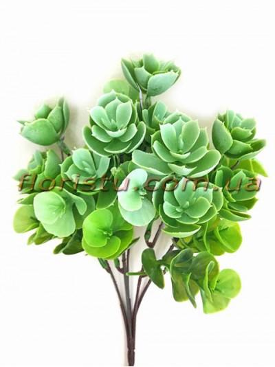 Очитник искусственный светло-зеленый 5 веток 30 см