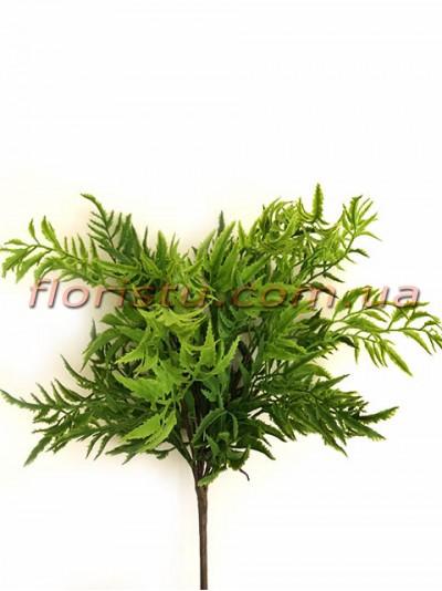 Ветка с листьями тагетеса из латекса премиум класса 35 см