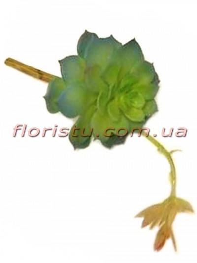 Суккулент искусственный со стрелой №1 серо-зеленый 27 см