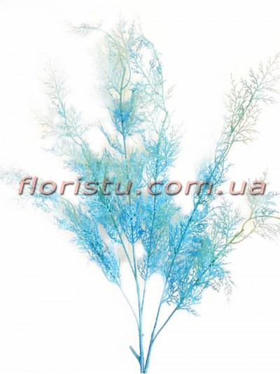 Искусственная ветка для декора Голубая 100 см