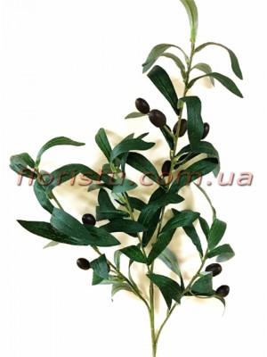 Ветка оливы с оливками искусственная премиум класса 80 см