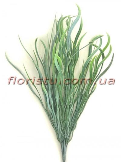 Трава осока волнистая зеленая с напылением 25 см