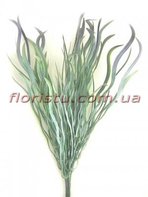 Трава осока волнистая зеленая с напылением Фиолет 25 см
