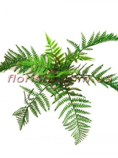 Куст папоротника премиум класса Зеленый 13 веток 60 см