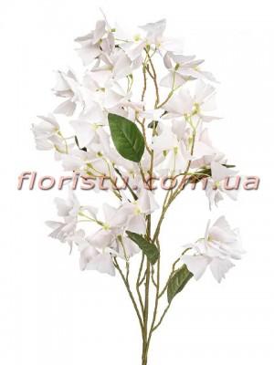 Ветка искусственная Бабочка Бледно-розовая 110 см