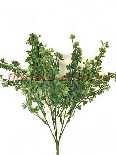 Букет пластик с мелкими цветочками Зеленый 37 см