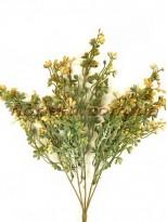 Букет пластик с мелкими цветочками Желто-зеленый 37 см