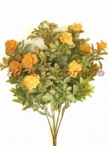 Самшит пластик с желтыми розочками 35 см