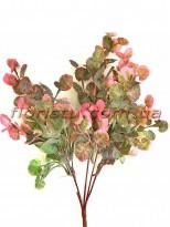 Щитолистник искусственный Розово-зеленый 5 веток 33 см
