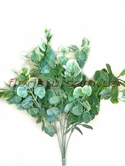 Щитолистник искусственный Дымчато-зеленый 5 веток 33 см