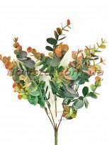 Самшит пластик с напылением Оранжево-зеленый 5 веток 34 см