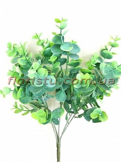 Самшит пластик с напылением Дымчато-зеленый 5 веток 34 см