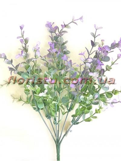 Самшит пластик Дымчато-фиолетовый 7 веток 35 см
