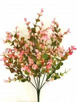 Самшит пластик Розово-зеленый 7 веток 35 см