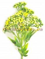 Ветка с ягодами мимозы Винтаж желтая 31 см
