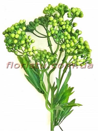 Ветка с ягодами мимозы Винтаж зеленая 31 см